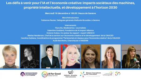 [Invitation webinaire 5] Les défis à venir pour l'IA et l'économie créative - 16/12/20