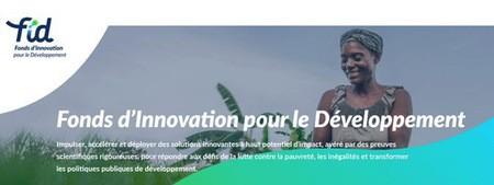 L'AFD lance le Fonds d'innovation pour le développement (FID) - 1ère édition