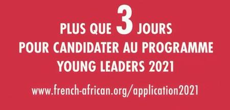 Ultime possibilité de participer à l'appel Young Leaders 2021 de la French-African Foundation !
