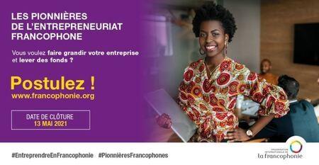 Appel à candidatures : Les Pionnières de l'entrepreneuriat francophone !