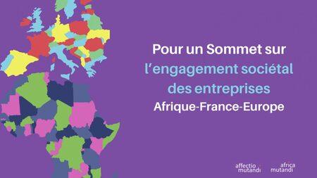 Participez au  Sommet sur l'Engagement Sociétal des Entreprises entre l'Afrique, la France et l'Europe