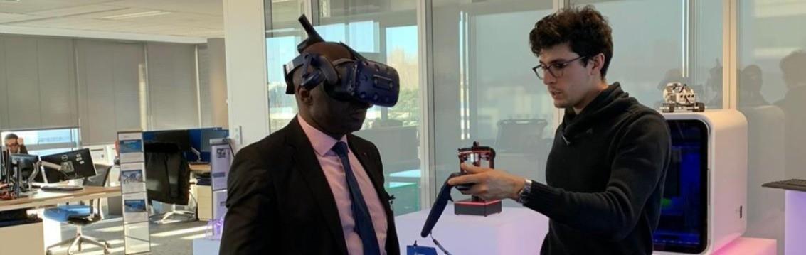 Le Représentant-résident de l'IAI-Cameroun s'abreuve des innovations technologiques de pointe de Dassault Systèmes à Paris