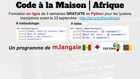Code a la maison Afrique