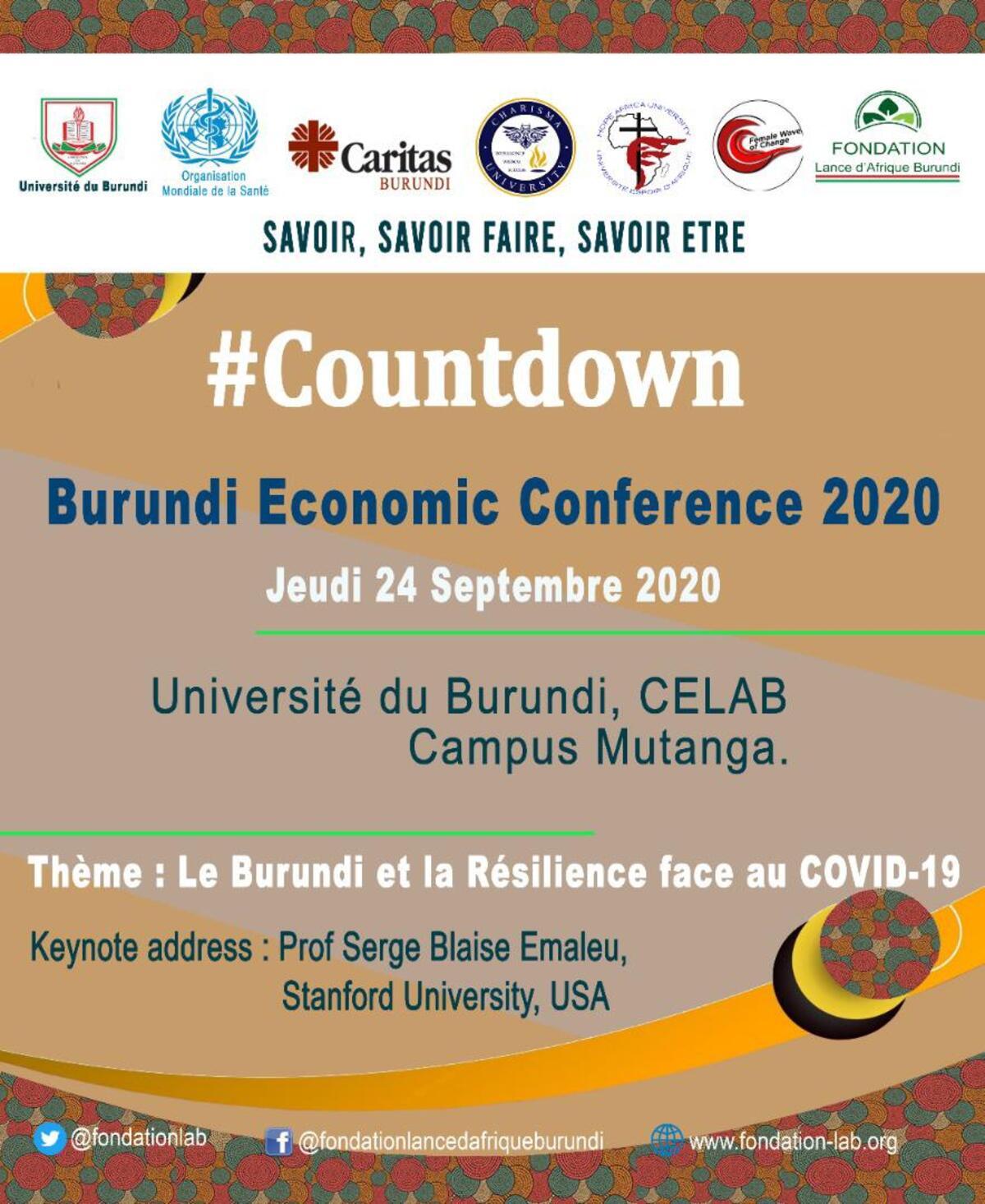 Résilience face au covid-19 : des experts se donnent rendez-vous au Burundi