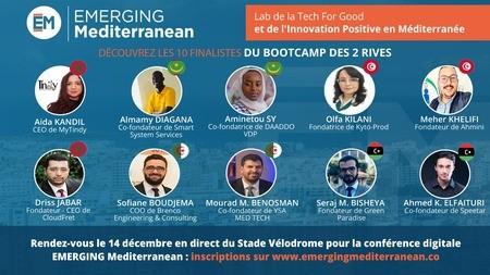 Les 10 startups finalistes d'EMERGING Mediterranean sélectionnées à l'issue du BootCamp des 2 Rives