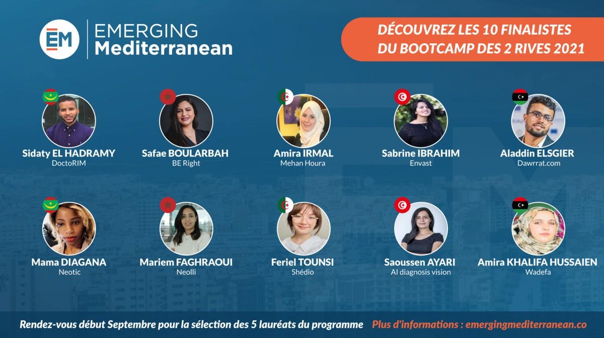 EMERGING Mediterranean 2021 dévoile ses 10 finalistes au terme de 72 heures d'intelligence collective
