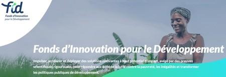 Le Fonds d'Innovation pour le Développement (FID) lance son premier appel à projets
