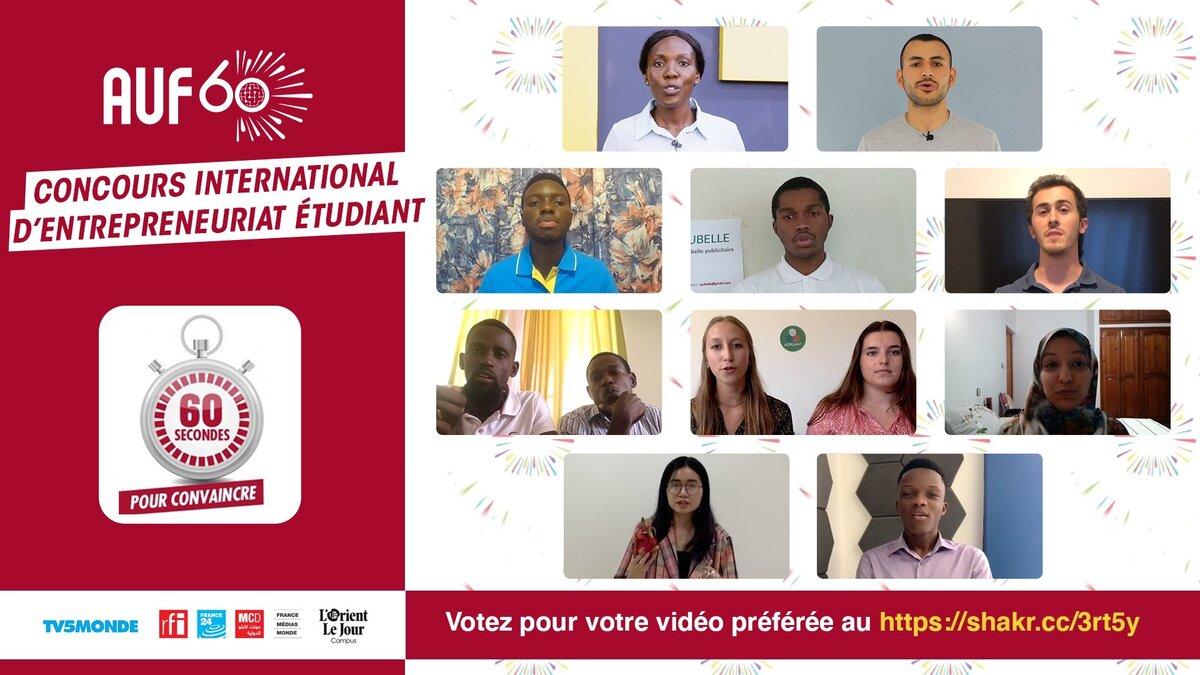 Concours international d'entrepreneuriat étudiant : plus que quelques jours pour voter