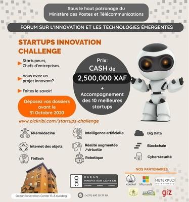 L'OIC organise le ''Startups innovation challenge'', du 12 au 13 novembre 2020 à Kribi (sud-Cameroun)