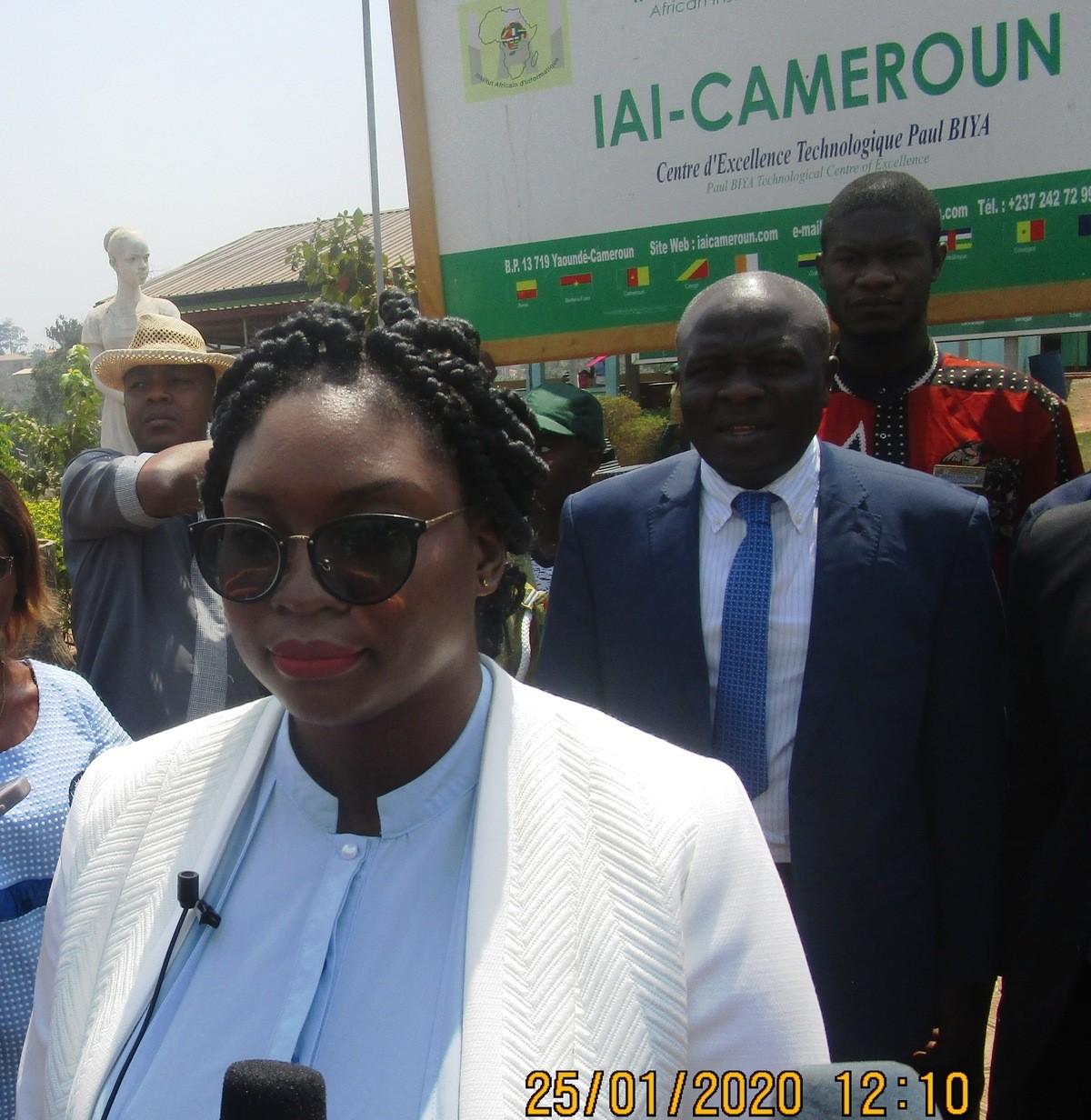 ''Pour développer le Cameroun, il faut des entrepreneurs, mieux des créateurs de richesses'', prône Éméline Atsena, la promotrice de Viscal Conseils.